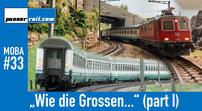 Gotthardzüge Modell und Original