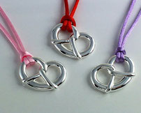 German Bretzel - the perfect accessoire for Octoberfest, made of 925 sterling silver