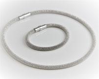 """Silver Set """"Diamant"""" - mit Magnetverschluss"""