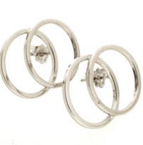 "Double mini circle earrings ""Fairy"""