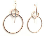 "Big light Circle earrings ""Strong 925 sterling silver"