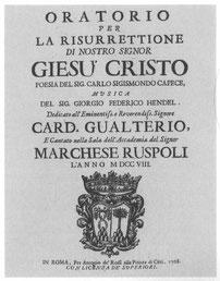 Titelseite des Libretto