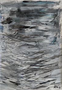 Einsam - Acryl auf Fotopapier - 2021