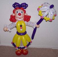 muñeca de globos