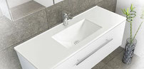 VANESSA polymarble basin tops - high gloss. Available in 600, 750, 900, 1200, 1500, 1800mm