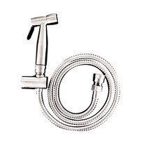 Classic douche handspray (304 Grade Stainless Steel Hand piece with wall bracket and dual check valve) - Chrome, WELS 3 star rating, 8L/min