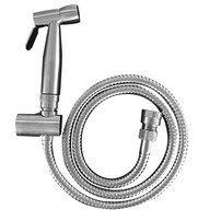 Classic douche handspray (304 Grade Stainless Steel Hand piece with wall bracket and dual check valve) - Brushed Stainless Steel, WELS 3 star rating, 8L/min