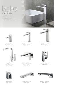 Fienza Koko Range tapware mixers showers accessories