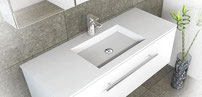 JACKSON Solid Surface basin tops.  Available in 900, 1200mm