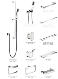 Fienza Lincoln tapware mixers showers accessories chrome mixed finish