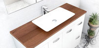 GRANIDA HARDWOOD tops.  Available in 750, 900, 1200mm