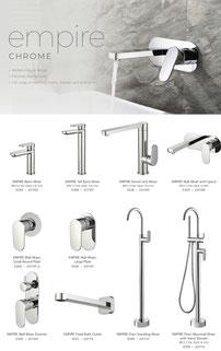 Fienza Empire tapware mixers showers accessories chrome