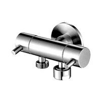 Classic dual control mini cistern cock for handspray - Chrome