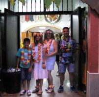 Nuestros Presidentes y Falleras Mayor e Infantil en la fiesta de San Juan