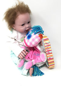 Schnüffel- Tuch das kleine Ich bin Ich, 20 cm, rosa, bestickt mit Namen