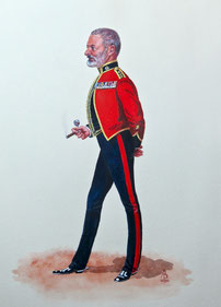 Colonel, Adjutant General's Corps (Royal Military Police) (private caricature commission)