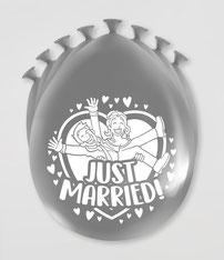 Ballonnen Just Married 8 stuks € 2,25