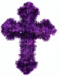 Wanddecoratie Paars kruis 36,5 cm € 3,25