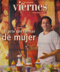 Viernes Magazine Cover. March 7th 2008 By: Heidi Llanes