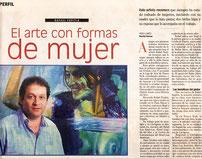 """Viernes Magazine. Rafael Espitia """"EL ARTE CON FORMAS DE MUJER"""". March 7th 2008 By: Heidi Llanes"""