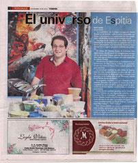 """Rafael Espitia también participa en la Galería Cristina Chacón en una exposición colectiva con la muestra """"Así es Colombia"""", realizada en Coconut Grove, Florida, donde se llevó la obra de lo más renombrado del país."""