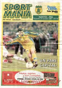 Programme  Nantes-PSG  2001-02
