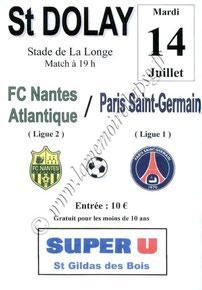 2009-07-14  Nantes-PSG (Amical à Saint Dolay, Affichette)