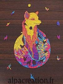 puzzle bois animaux