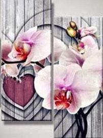 broderie diamant orchidée 4 parties