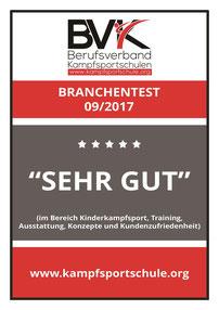 """Auszeichnung """"SEHR GUT"""" Selbstverteidigung Akademie Augsburg September 2017"""