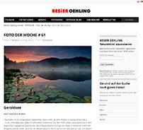 Text- und Bildbeitrag beim Besier Oehling Verlag sowie Foto der Woche.
