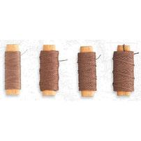 Baumwollfäden Braun, für täuschend echte Seile.