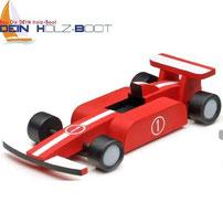 Holz-Kit F1 Racer mit Farben zum malen