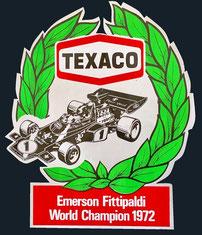 Texaco Campeón del Mundo 1974 formel 1 Emerson Fittipaldi
