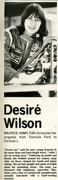 Desire Wilson en Autosport