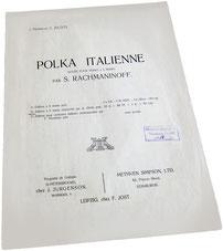 Итальянская полька, Рахманинов-Зилоти, старинные ноты