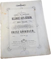 Вальс Звуки юга Фрица Шпиндлера, антикварные ноты