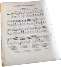 Мазурка фа-минор, опус 68 № 4, антикварные ноты для фортепиано