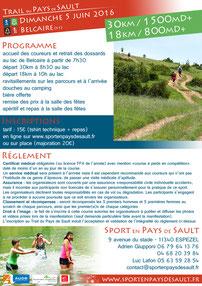 programme Trail Pays de Sault