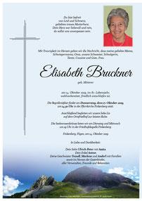 Parte Elisabeth Bruckner +14.10.2019