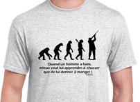 tee-shirt homme et la chasse