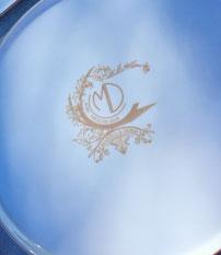 Logo mariage vaisselle