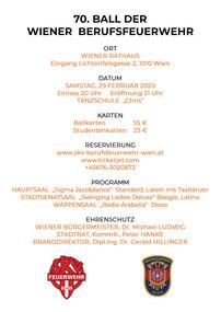 Programm Feuerwehrball Wien 2020