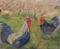 陽春の鶏  ガッシュ20号