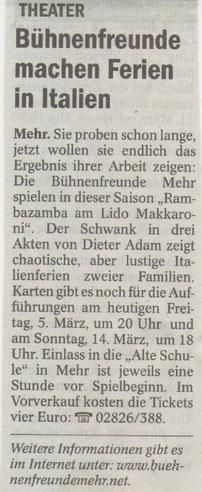 NRZ, Freitag den 05.03.2010