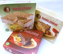 Marlenka tourte glacée: noix/miel, citron, chocolat