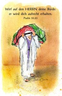 Lastenträger, Psalm 55,23, wirf auf den Herrn deine Bürde