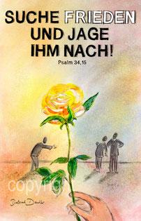 gelbe Rose, Frieden , Hand