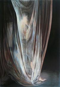 "Lukas Johannes Aigner, ""Ohne Titel"", Acryl auf MDF, 200x140, 2008"