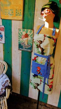 Schort recycling textile art Paulus de Boskabouter